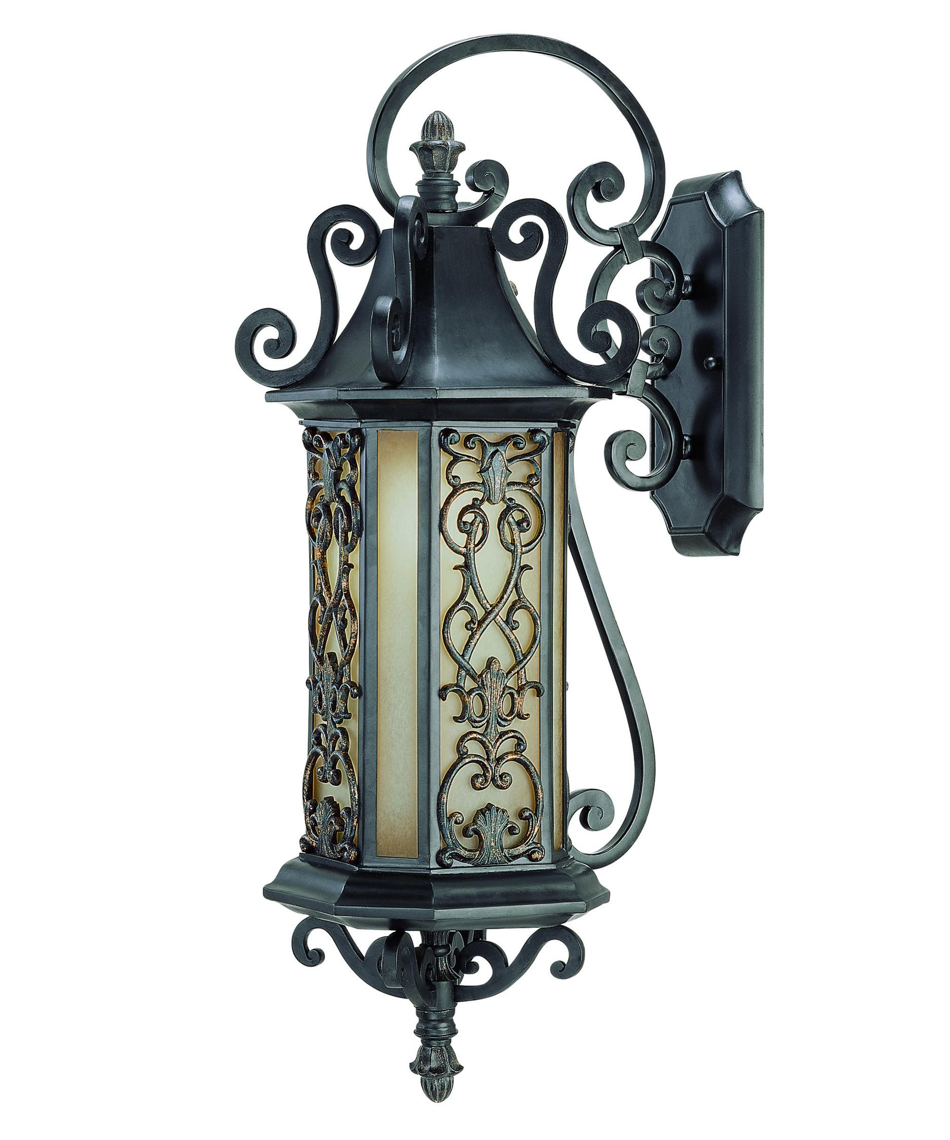 shown in como black with gold finish and tuscan glass - Savoy Lighting