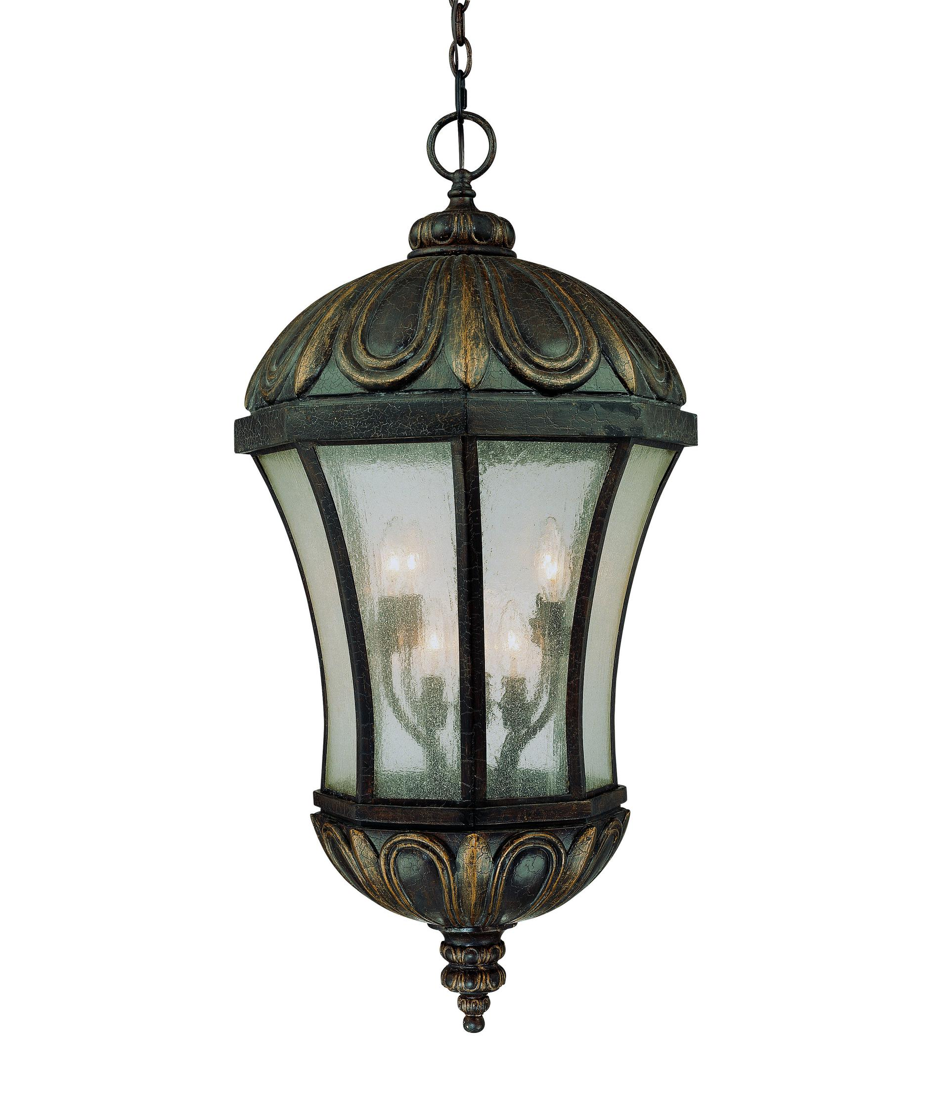 shown in old tuscan finish and pale cream seeded glass - Savoy Lighting