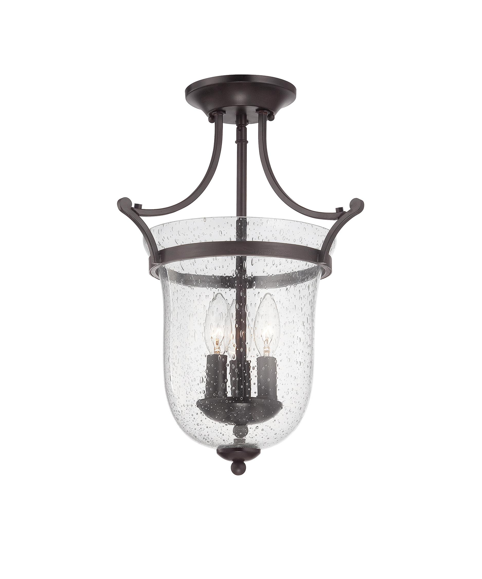 savoy house trudy 12 inch wide semi flush mount capitol lighting - Savoy Lighting