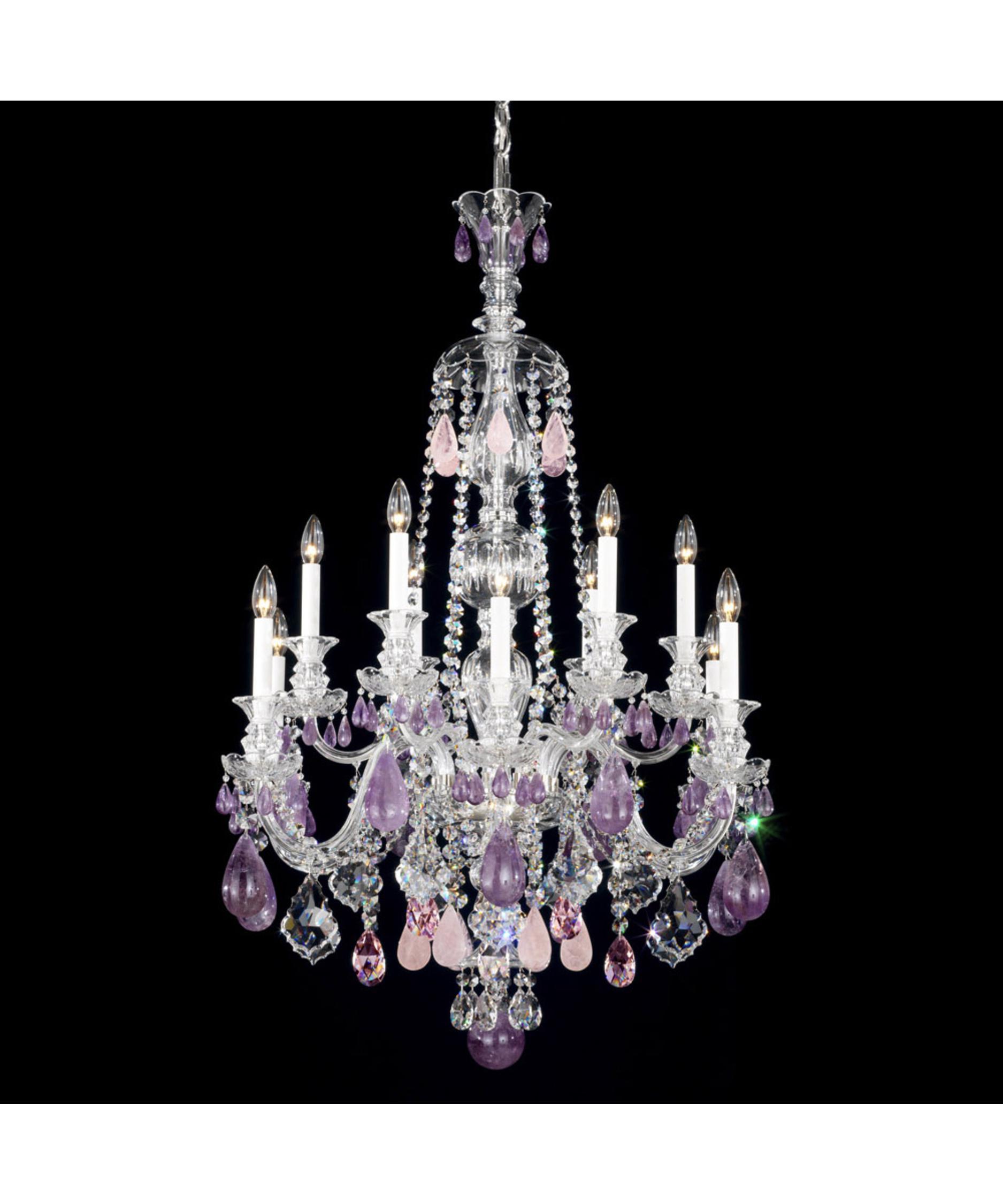 Schonbek Hamilton Rock Crystal 30 Inch Wide 12 Light Chandelier – Rock Crystal Chandelier