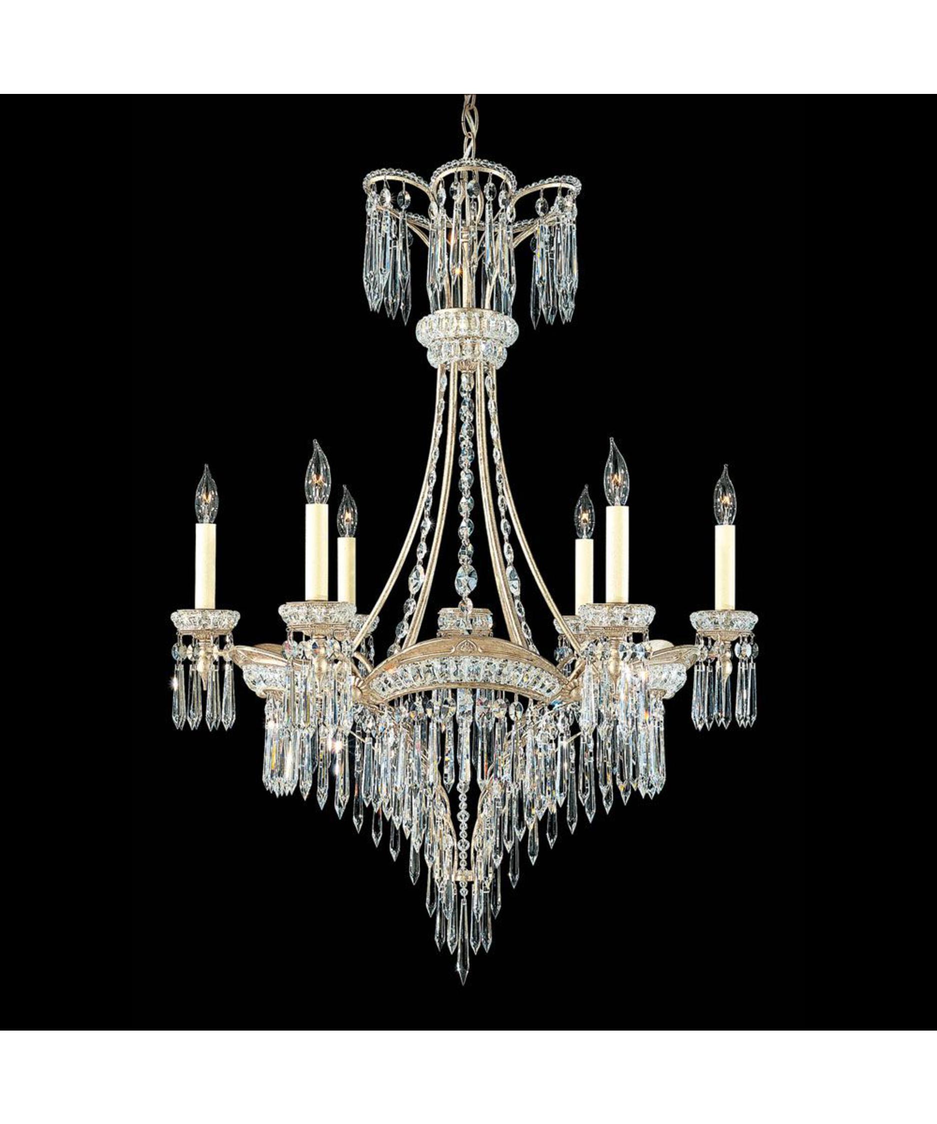 Schonbek Victorian 27 Inch Wide 6 Light Chandelier – Victorian Chandelier