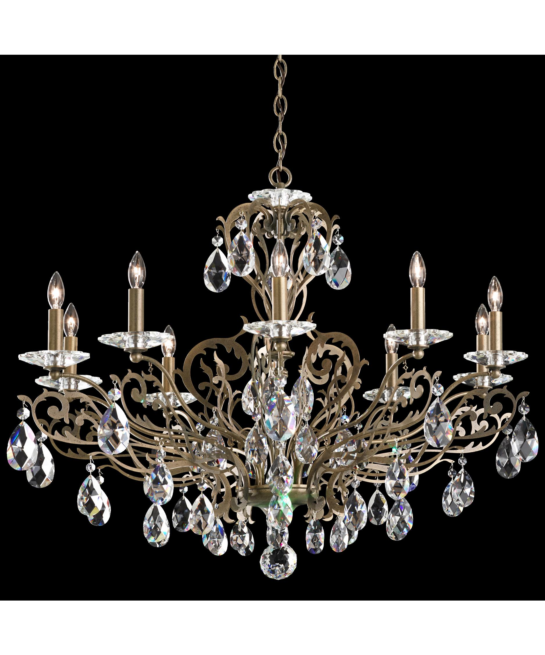 shown in etruscan gold finish and clear swarovski spectra crystal - Schonbek Lighting