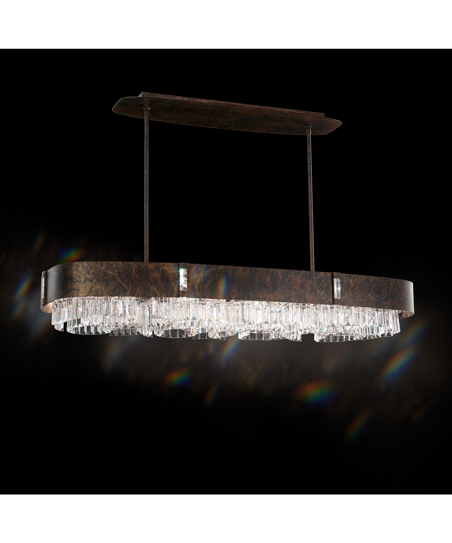 shown in ferro black finish and spectra crystal - Schonbek
