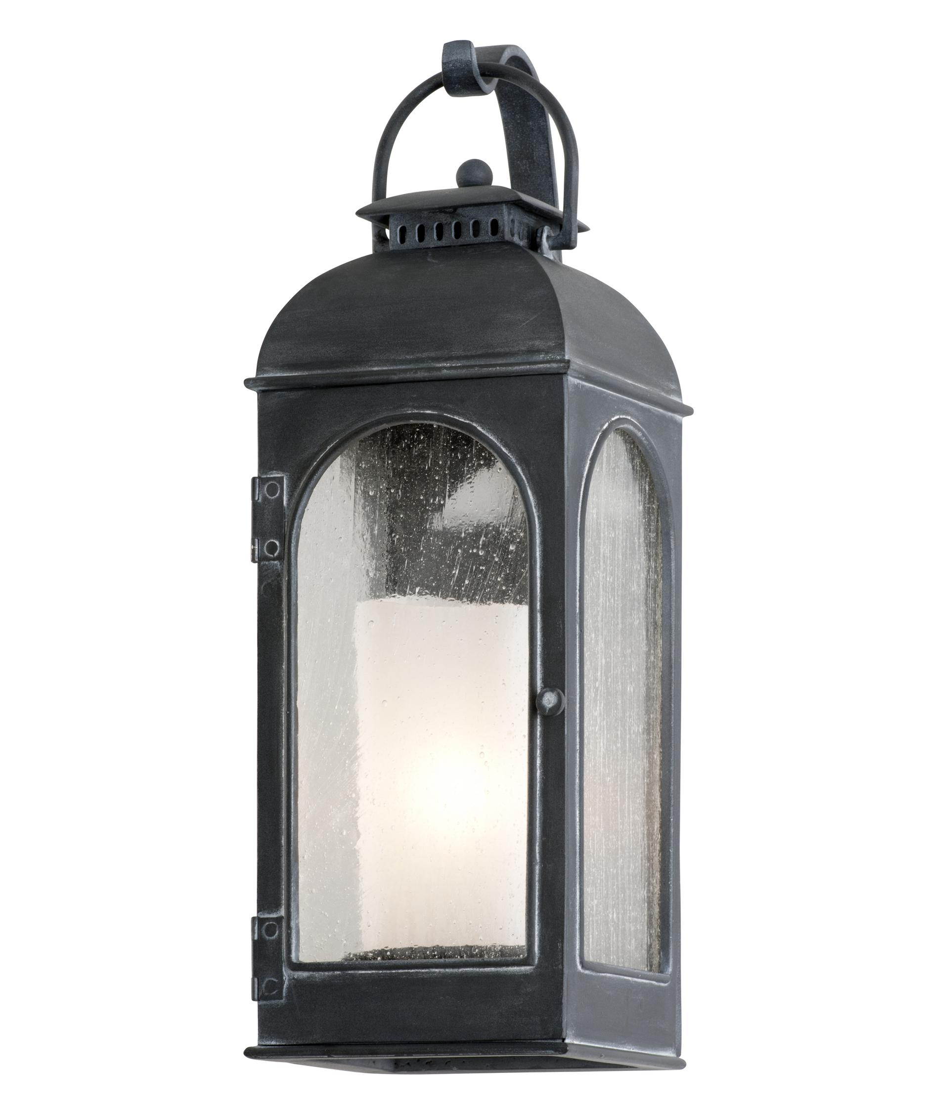 Shown In Antique Iron Finish And Clear Seeded With Antique Ivory Candle  Glass