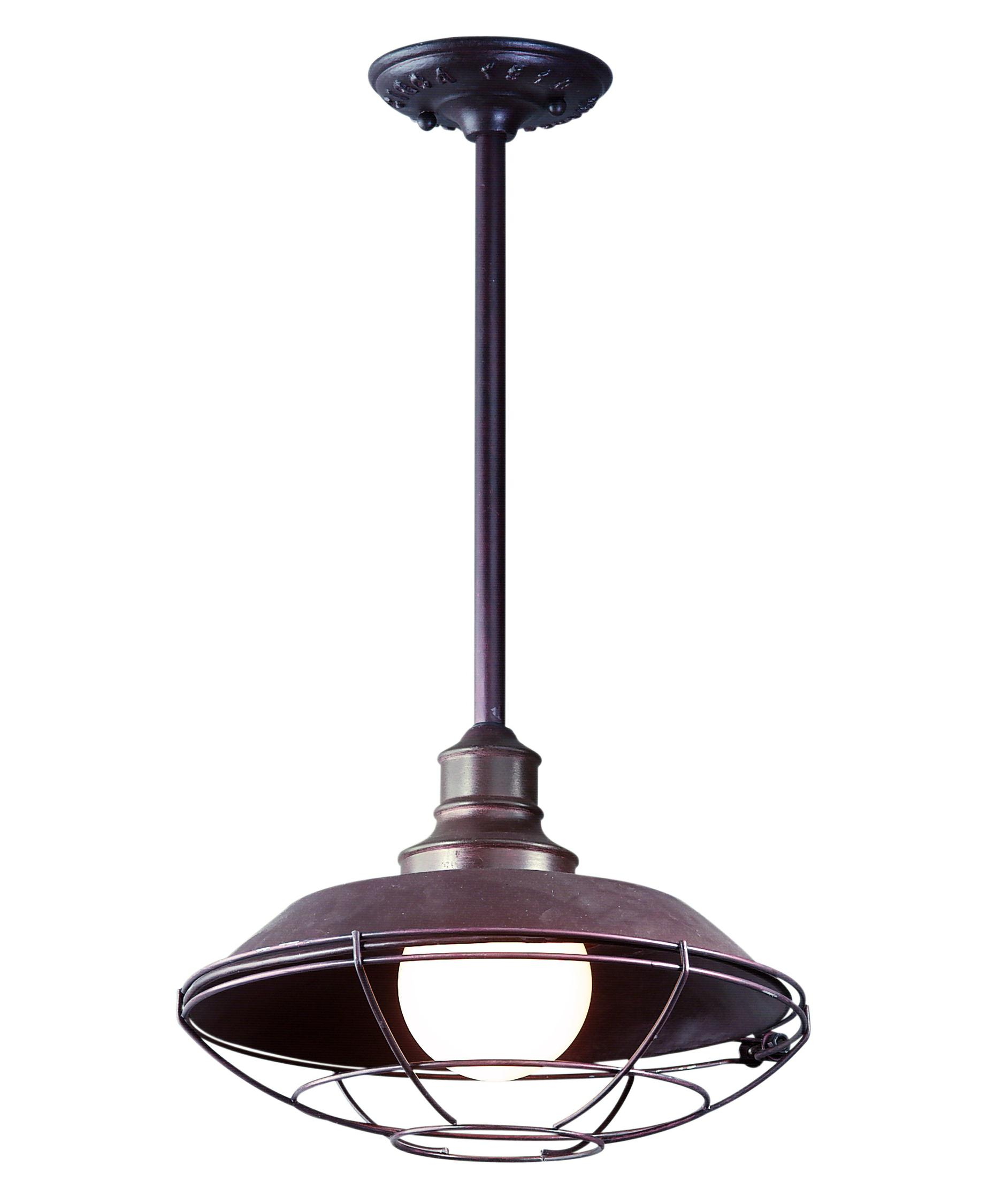 lighting hanging from the ceiling. shown in old rust finish lighting hanging from the ceiling