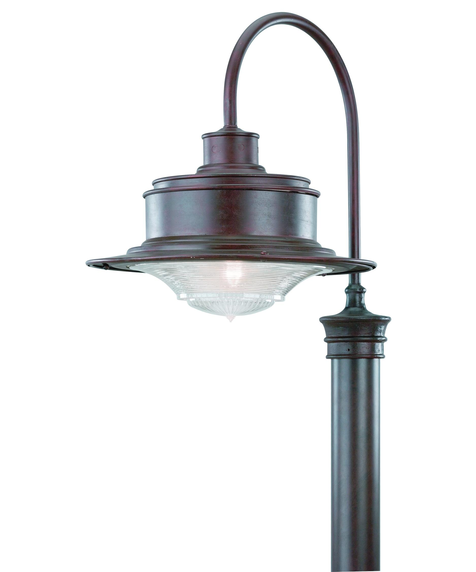 Outdoor Post Lighting Brimfield 3 Head Aged Iron Outdoor Post