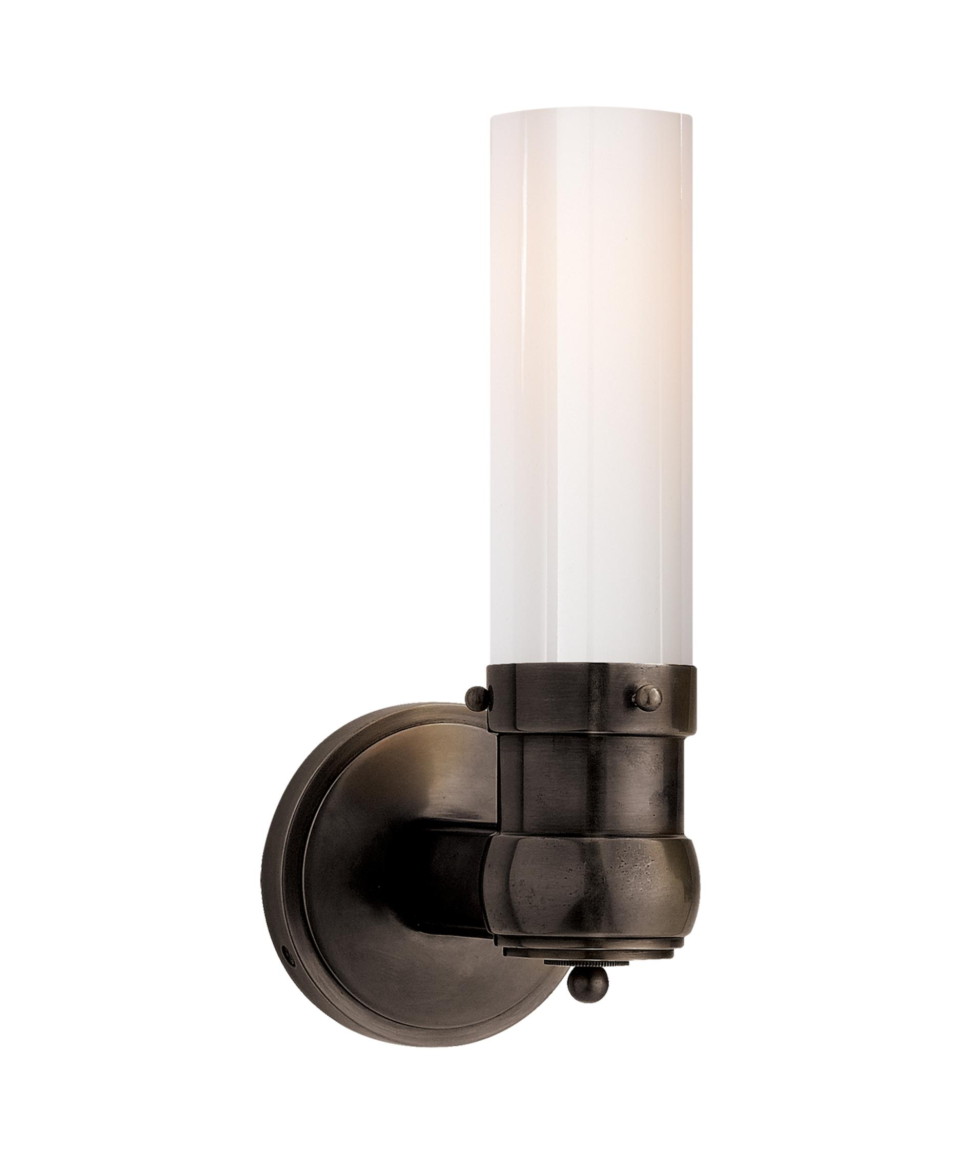 Bath Lighting Sconces visual comfort tob2187 thomas o'brien graydon bath light 4 inch