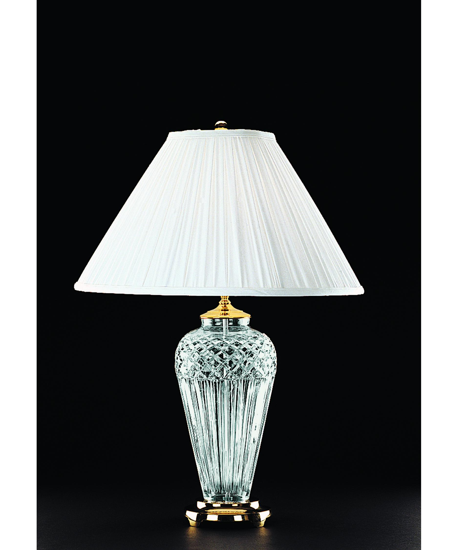 Lovely Shown In Polished Brass Finish And White Soft Pleat Coolie Soft Shade Shade