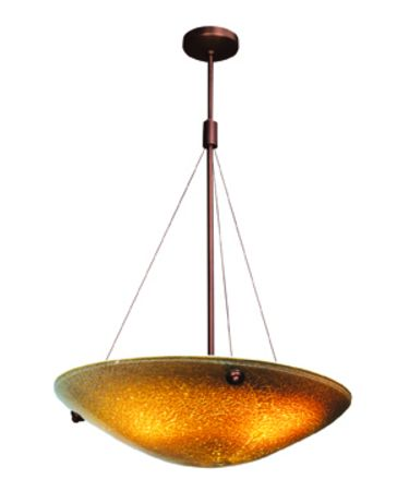 Shown in Bronze finish and Silver Amber glass