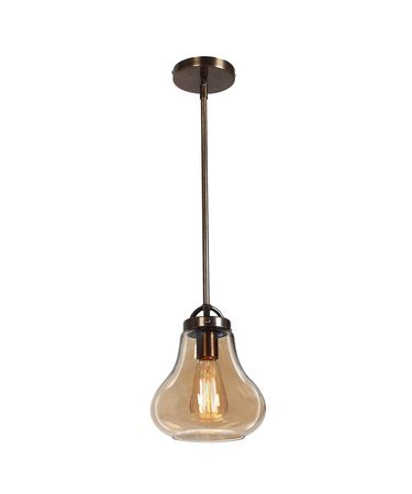 Shown in Dark Bronze finish and Amber glass