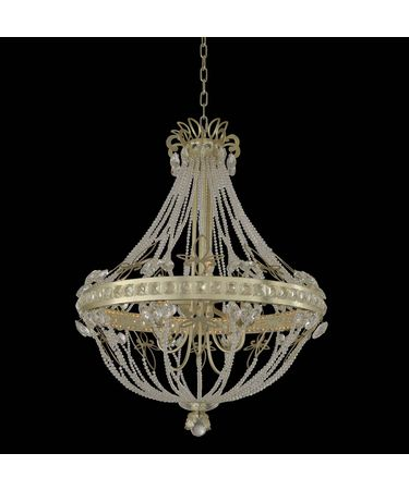 Shown in Champagne Silver Leaf finish and Firenze Clear crystal