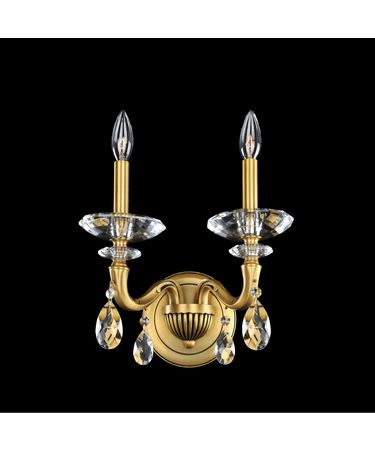 Shown In Historic Brass finish with Firenze Clear crystal