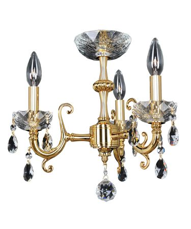 Shown in 24K Gold finish and Firenze Clear crystal