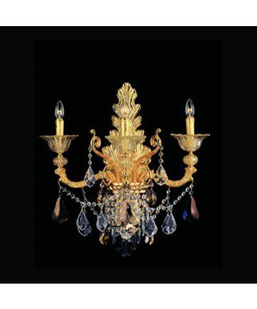 Shown In Antique Gold Leaf Finish With Firenze Clear