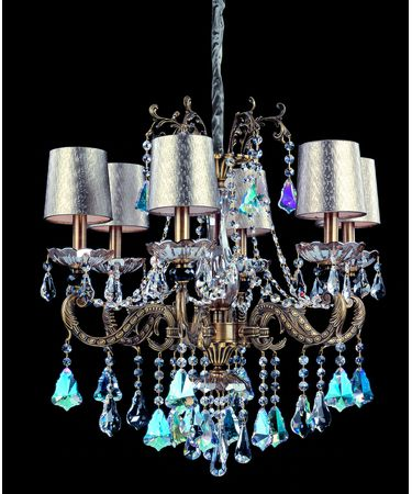 Shown in Aged Bronze finish and Firenze Mixed crystal
