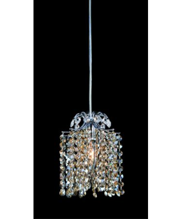 Shown in Polished Chrome finish and Firenze Clear with Crystal Blue AB Accents crystal