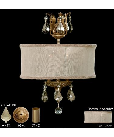 Shown in Precision Teak Penadalogue Crystal and Straw Shade