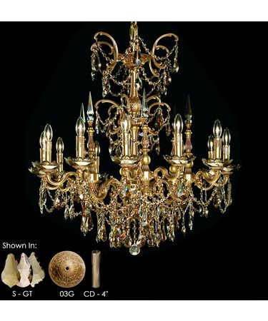 Shown in French Gold Glossy finish with Special Order