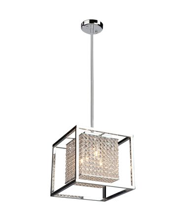 Shown in Stainless Steel finish and Cube crystal