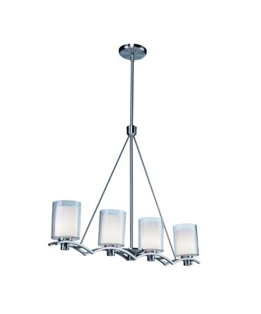 Shown in Polished Nickel finish and Frosted White glass