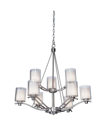 Shown in Polished Nickel finish and Frosted Amber glass
