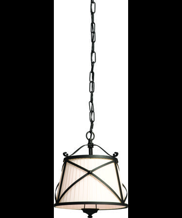 Shown in Black Iron Work finish and Black String shade