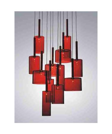 Shown in Silver finish and Red glass