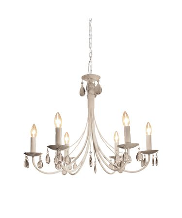 Shown in White finish and Crystal Droplets crystal