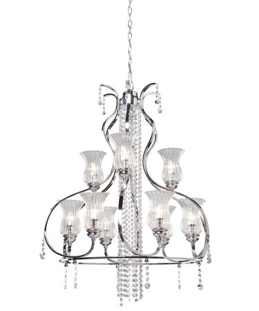 Shown in Chrome finish and Pendalogues crystal