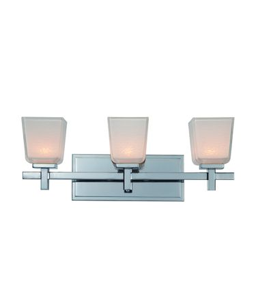 Shown in Chrome finish and White with Crackle Design glass