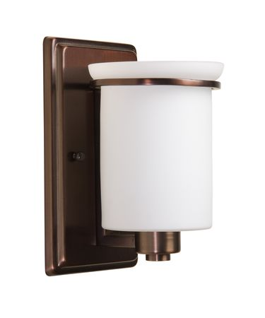 Shown in Burnished Bronze finish and Opal glass