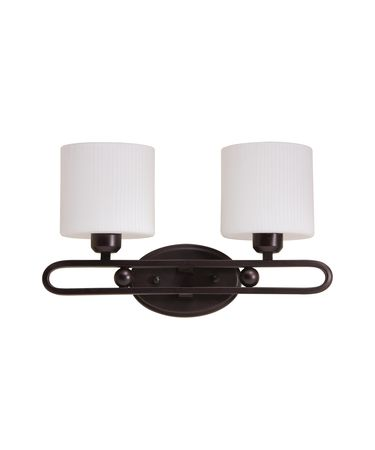 Shown in Hand Rubbed Oil Bronze finish and Oval Opal White Ribbed glass
