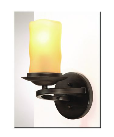 Shown in Oil Rubbed Bronze finish, Amber glass and White String shade