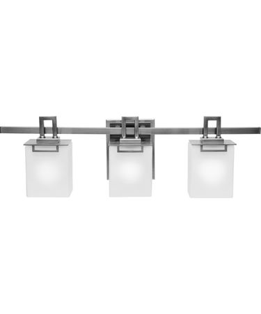 Shown in Polished Nickel finish and Square White Opal glass