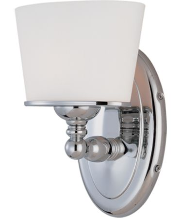 Shown in Chrome finish and White Oval glass