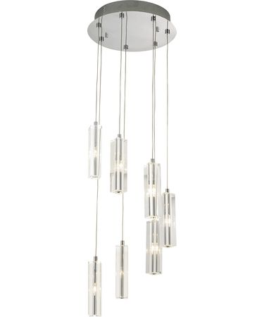 Shown in Brushed Nickel finish, Optic crystal and Crystal Bobeche accent
