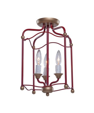 Shown in Dark Red finish and Crystal Drops accent