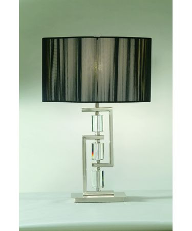 Shown in Chrome finish and Fabric shade