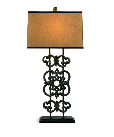 Shown in Bronze finish and Fabric shade