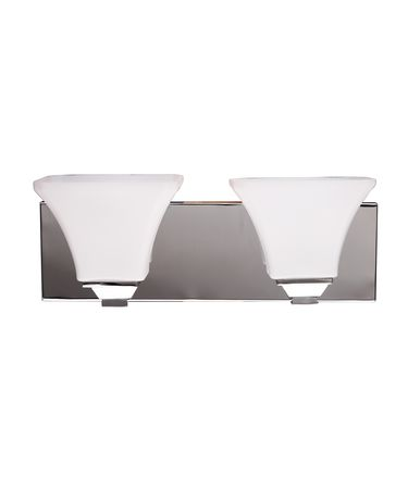 Shown in Chrome finish and White Opal glass
