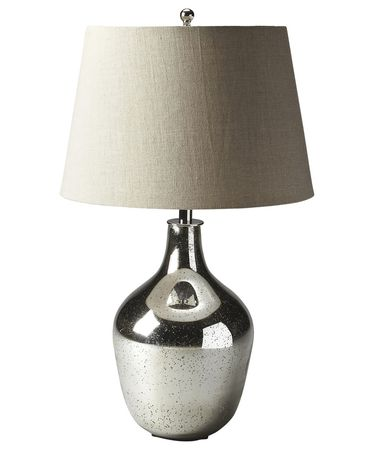 Shown in Mercury Antique Nickel finish and Linen shade