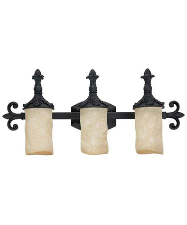 Shown in Wrought Iron finish and Rust Scavo glass