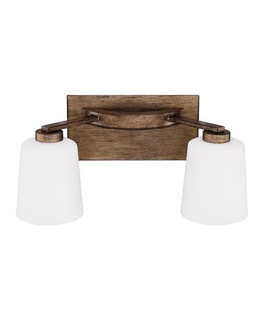 Shown in Rustic finish and Soft White glass