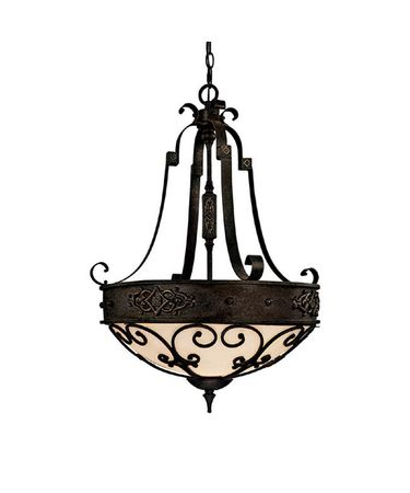 Shown in Rustic Iron finish and Rust Scavo glass