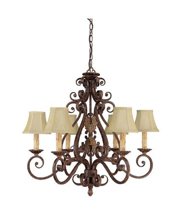 Shown in Gilded Umber finish and Fabric shade