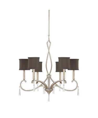 Shown in Brushed Silver finish and Fabric shade