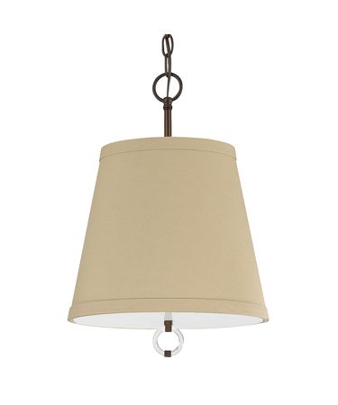 Shown in Burnished Bronze finish and Beige shade