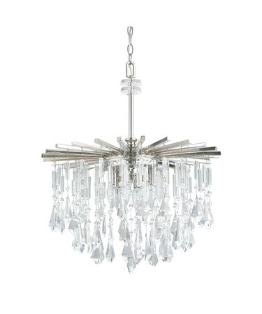 Shown in Polished Nickel finish and Clear crystal