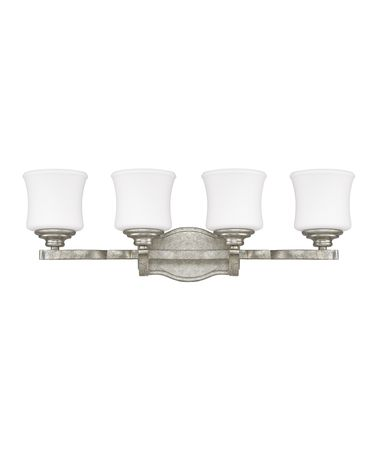 Shown in Antique Silver finish and Soft White glass