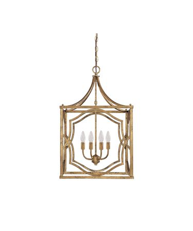 Shown in Antique Gold finish and No Crystal crystal